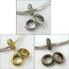 30 Tibetan Silver,Gold,Bronze Round 7mm Hole Charm Bead Fit Bracelet 11mm P080