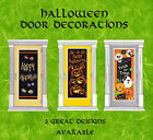 HALLOWEEN DOOR DECORATIONS POSTERS (Bones, Spooky Smiles or Pumpkin Grin)
