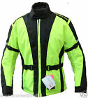 Hivis Armoured Motor Cycle Bike Wind/Waterproof Cordura Racing Jacket - HI VIZ