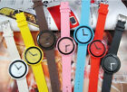 Woman Men Children Candy Color Colorful Jelly Sports Quartz Fashion Wrist Watch