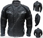 CE Armoured - Mens Black Motor Cycle Bike Wind/Waterproof Cordura Racing Jacket