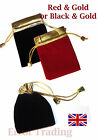 Jewellery Gift Bag. Velvet & Gold  Pouch. Drawstring. 9x12 cm. Good Quality
