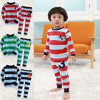 "NWT Vaenait Baby Toddler Kid Long Sleeve Sleepwear Pajama Set ""Stripe No.3"""