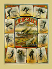 H B Smith Bicycle Smithville Burlington New Jersey Vintage Poster Repro FREE S/H