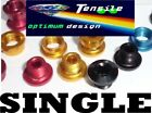 Onza Alloy Chainring Bolts,Single,Set 5. Gold, Red, Black, Blue hi precision NEW