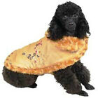 East Side Collection REVERSIBLE EMBROIDERED Satin & Fur Dog Coat Limited Sizes!