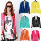 Candy Womens One Button Lapel Casual Suits Blazer Jacket Outerwear Coats Q058