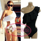 S Shape Ruffle One Shoulder Monokini One Piece Swimsuit Bademode  GW313