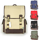 unihood NWT Canvas Mens Bag School Backpack Bookbag Casual Laptop Backpacks Bags
