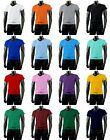 New Mens Stylish Cotton 100% V-Neck T-Shirts ALL Colour.(Sz) XS / S / M / L / XL