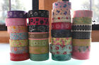 Washi Floral Tape 15mmx 10+m Roll Decorative Sticky Paper Masking Tape Adhesive