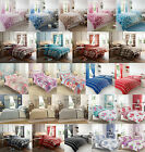 DUVET COVER WITH PILLOW CASE QUILT COVER BEDDING SET SINGLE DOUBLE KING S,KING