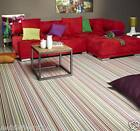 QUALITY NON SLIP AVENUE - BUBBLEGUM VINYL FLOORING MULTICOLOURED STRIPES 75