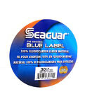 SEAGUAR BLUE LABEL FLUOROCARBON LEADER LINE 20 25 30 40 50 60 80 LB SELECT SIZE