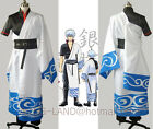 Gintama Sakata Gintoki Cosplay Costume Kimono Tailored Free Shipping