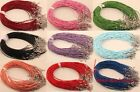 Sell 100/10pcs man-made leather Necklace with lobwter clasp 2mm Dia 9 color
