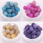 10pcs Round Agate Gemstone Spacer Beads 12mm 4 color fit Charm Braid Bracelet