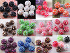 Sell 10pcs Full of Rhinestones Crystal Ball Acrylic Resin Round Spacer Beads