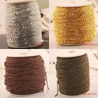 Hot 100/5/1 meters Plated Cable Open Link Iron Chain for necklace/bracelet