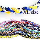 "22""/55cm 3-strand XL size Tornado Braid Titanium Necklace Ionic Baseball Sports"