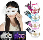Women Masquerade Party Floral Feather Venetian Cosplay Costume Masks