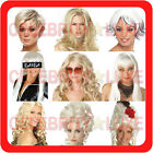 New Ladies Fancy Dress Party Costume Wig Long Short Wavy Straight Beehive 90's