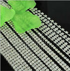 1 - 6 Row A Grade Wedding Decoration Crystal Band Rhinestone Chain Cake Ribbon