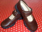 BNWB BROWN LEATHER GIRLS JODIE SCHOOL SHOES FROM STEP2WO RRP £45