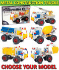 KIDS DESIGN BUILD PLAY CONSTRUCTION PLAY KIT TOY TRUCKS DIGGER WORK BUILDING SET