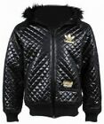NEW ADULTS ADIDAS ORIGINALS CHILE 62 BLACK HOODED QUILTED BOMBER JACKET