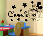 Mickey Mouse Personalised boys wall sticker new design! children vinyl decal