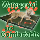 Waterproof Dog Bed 2 Sizes Large Washable Cover Pet Cat Mat Pad Cushion Red Bone