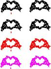 Zombie Heart Hands Love  * Vehicle Decal * Sticker * 7 Yr Outdoor