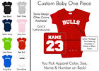Bulls Baby One Piece - Custom Name and Number, Creeper, Onesie