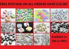 Acrylic Alphabet Beads, You Choose Shape & Colour, Jewellery Making, Crafts