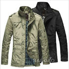 winter men's cotton padded down coat male stand collar thickening keep warm jack