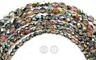 """Czech Fire Polished Round Faceted Glass Beads Crystal Santander coated 16""""strand"""