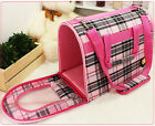 Cute Luxury Plush Pet Puppia Bed/House/Carrier/Tote- Pink&Beige For Cozy Dog/Cat