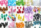 GLASS CRACKLE BEADS, 100 x 8MM FOR JEWELLERY MAKING, - YOU CHOOSE COLOUR!