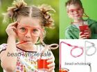 New Novelty Flexible Soft Glasses Funny Drinking Glasses Straw For Kids Party