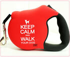 26 Bars And A Band Cute Luxury Dog Retractable Leash High Quality 4Red Keep Calm