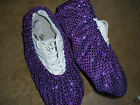 PURPLE SEQUIN FLASHY  BOWLING SHOE COVERS-MED, LG OR XL