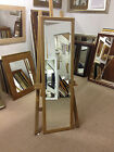 NEW MODERN SHAPED NATURAL SOLID OAK LONG AND FULL LENGTH DRESSING MIRRORS