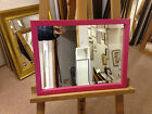 NEW MODERN PLAIN PINK WALL AND OVERMANTLE MIRRORS - VARIOUS SIZES AVAILABLE