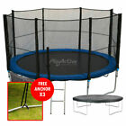 16FT Trampoline With FREE Safety Net Enclosure, Ladder, Rain Cover, + Shoe Bag
