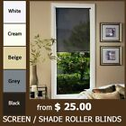 MODERN SCREEN SHADE ROLLER BLINDS - CHOOSE YOUR COLOR and SIZE. TOP QUALITY!