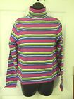 NEW LOT of 25  Womens Real Comfort Chadwicks Striped Turtlenecks Wholesale $375