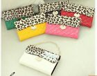 Bling Leopard Leather Wallet Case Cover & Card Slot For Galaxy Note II 2 N7100