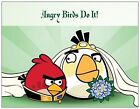 100 Personalized Custom ANGRY BIRDS Save the DATE  Post CARDS or FLAT Cards