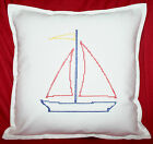 Vintage Style Cross Stitch Embroidered Personalised Birthday gift Cushion cover